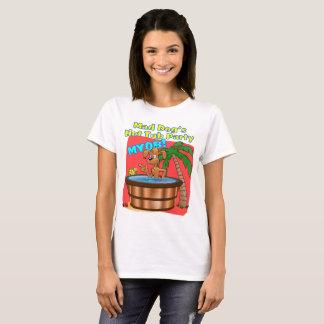 Camiseta A banheira de hidromassagem do cão louco