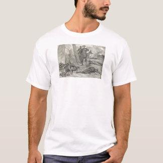 Camiseta A batalha de t-shirt ferido do joelho