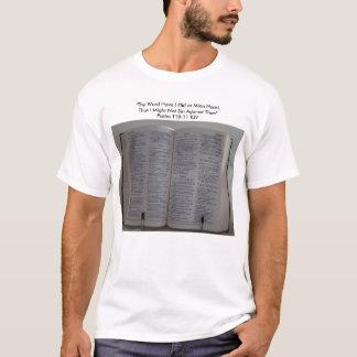 """Camiseta A bíblia, """"Thy palavra tem-me escondeu no coração"""