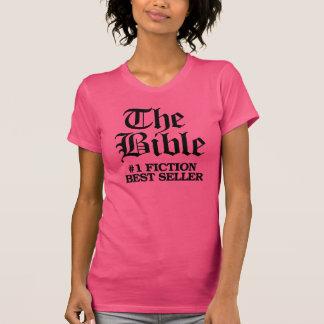 Camiseta A bíblia - vendedor da ficção do número um o