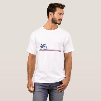 Camiseta A bicicleta com Francês-Bandeira inspirou o T das
