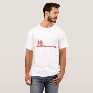 Camiseta A bicicleta com Suíço-Bandeira inspirou o T das