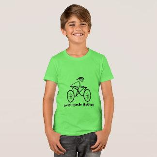 Camiseta A bicicleta estranha do comportamento humano caçoa