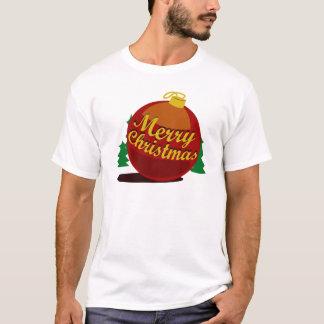 Camiseta A bola da versão do branco do Natal