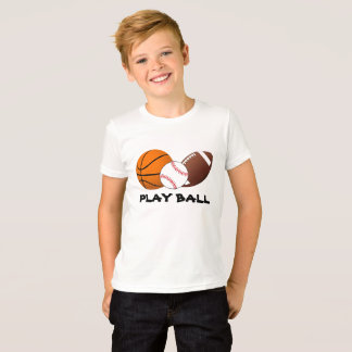 Camiseta A bola do jogo ostenta o t-shirt