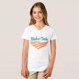 Camiseta A bondade balança o t-shirt fino do V-Pescoço do