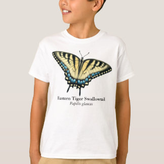 Camiseta A borboleta de Swallowtail do tigre caçoa o