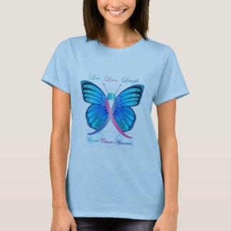 Camiseta A borboleta do tiróide esteja ciente