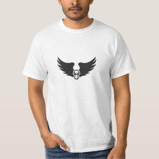 Camiseta A cabeça irritada do pato do pato selvagem voa