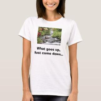 Camiseta A cachoeira, o que vai acima, deve vir abaixo de…