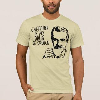Camiseta A cafeína é minha droga de retro bem escolhido