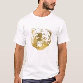 Camiseta A camisa, o branco e o ouro dos homens dourados do