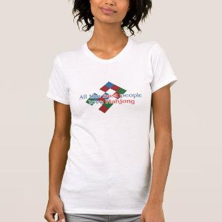 Camiseta A camisola de alças do amante de Mahjong