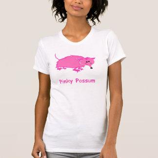 Camiseta A camisola de alças mindinho das mulheres do gambá