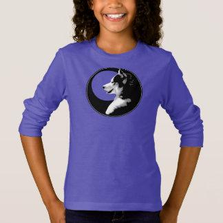 Camiseta A camisola ronca do miúdo do cão do lobo das