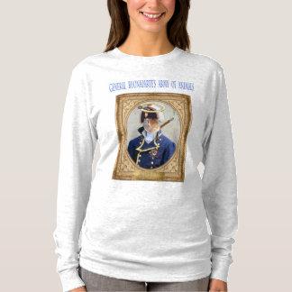 Camiseta A camisola sleeved longa das mulheres