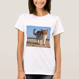 Camiseta A cara nova bonito animal dispersa do gato Eyes a
