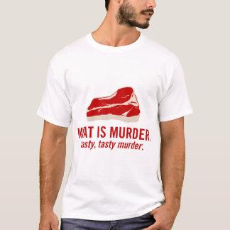 Camiseta A carne é assassinato, assassinato saboroso