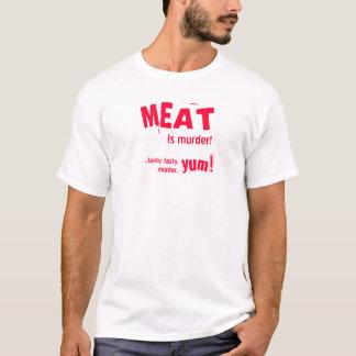 Camiseta A CARNE é assassinato! … t-shirt saboroso,