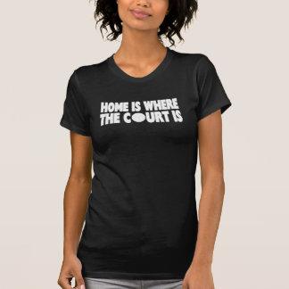 Camiseta A casa do voleibol | é o lugar onde a corte está