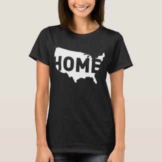 Camiseta A casa é o lugar onde América está