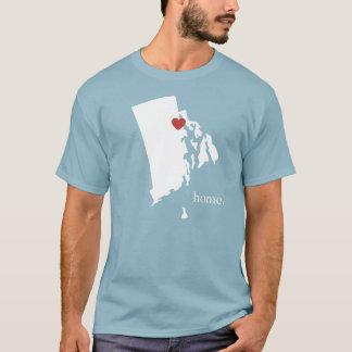 Camiseta A casa é o lugar onde o coração é - Rhode - ilha