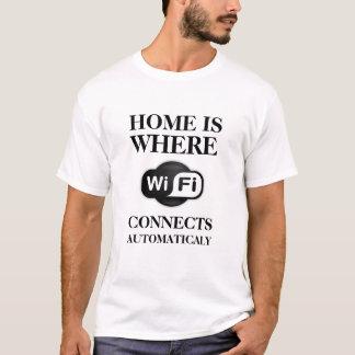 Camiseta a casa é o lugar onde WIFI conecta automaticamente