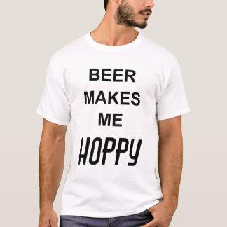 Camiseta A CERVEJA FAZ-ME o texto engraçado HOPPY das