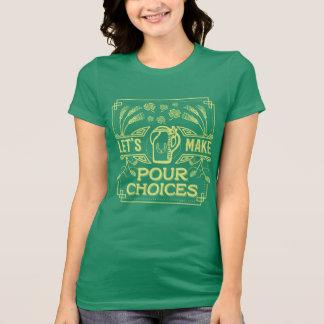 Camiseta A cerveja irlandesa do dia engraçado de Patrick de