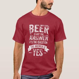Camiseta A cerveja não é a resposta
