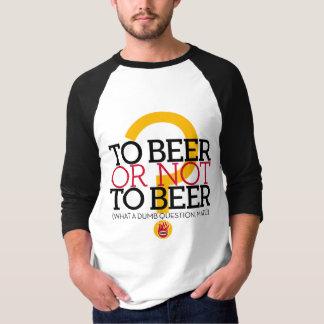 Camiseta À cerveja ou não à cerveja? , pelo EL Señor Smith