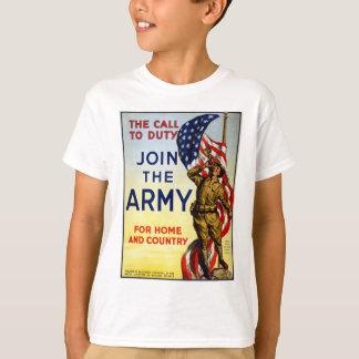 Camiseta A chamada ao dever - junte-se ao poster do