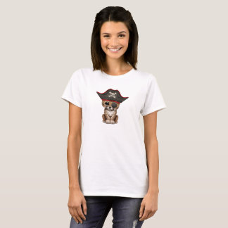 Camiseta A chita bonito Cub do bebê pirateia