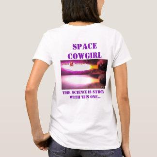 Camiseta A ciência da Vaqueira do espaço é forte com esta