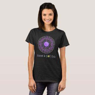 Camiseta A ciência do átomo da platina é para meninas