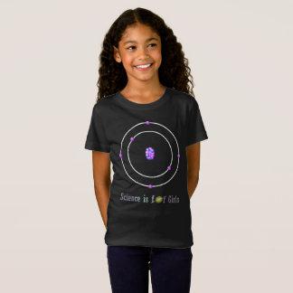 Camiseta A ciência do átomo de carbono é para meninas