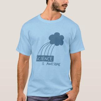 Camiseta A ciência é impressionante (o azul de aço)