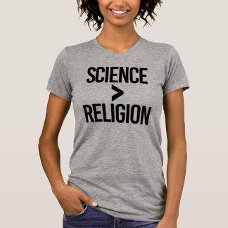 Camiseta A ciência é maior do que a religião - - a