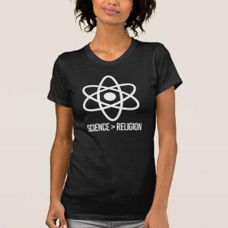 Camiseta A ciência é maior do que a religião - símbolo da