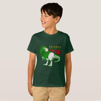 Camiseta A ciência fez dinossauros impressionantes!