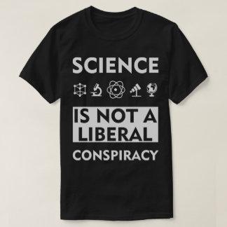 Camiseta A ciência não é uma conspiração liberal