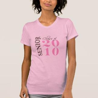 Camiseta A classe de 2010 meninas bronzeia o rosa