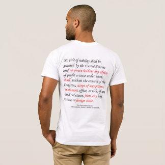 Camiseta A cláusula dos lucros dos homens da constituição