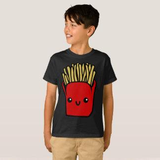 Camiseta A comida vermelha brilhante de sorriso das batatas