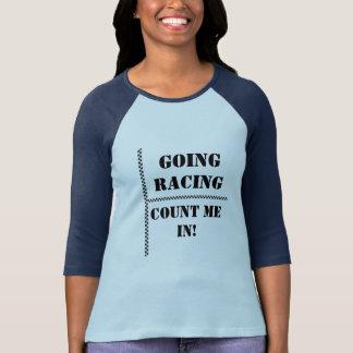 Camiseta A competência indo conta-me dentro