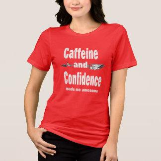 Camiseta a confiança da cafeína fez-me inspirado