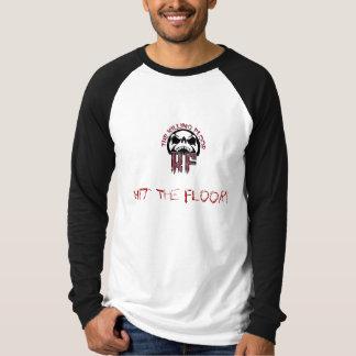 Camiseta a cópia do logotipo de t, bateu o assoalho!