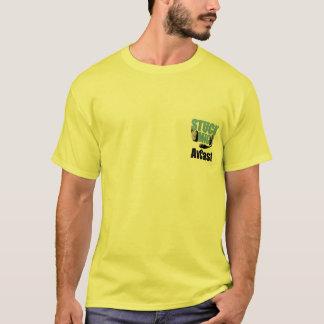 Camiseta A cor clara colada do Mic AvCast
