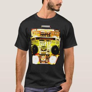 Camiseta A cor de Boombox desvanece-se (o amarelo)