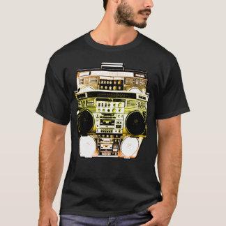 Camiseta A cor de Boombox desvanece-se (o ouro)
